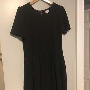 LuLaRoe Dresses - Lularoe Amelia Dress ROSE GOLD Zipper UNICORN